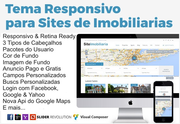 Tema Responsivo Wordpress Premium P/ Sites De Imobiliaria - R$ 39,99 ...