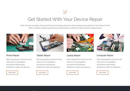tema site wordpress para assistência técnica e manutenção de