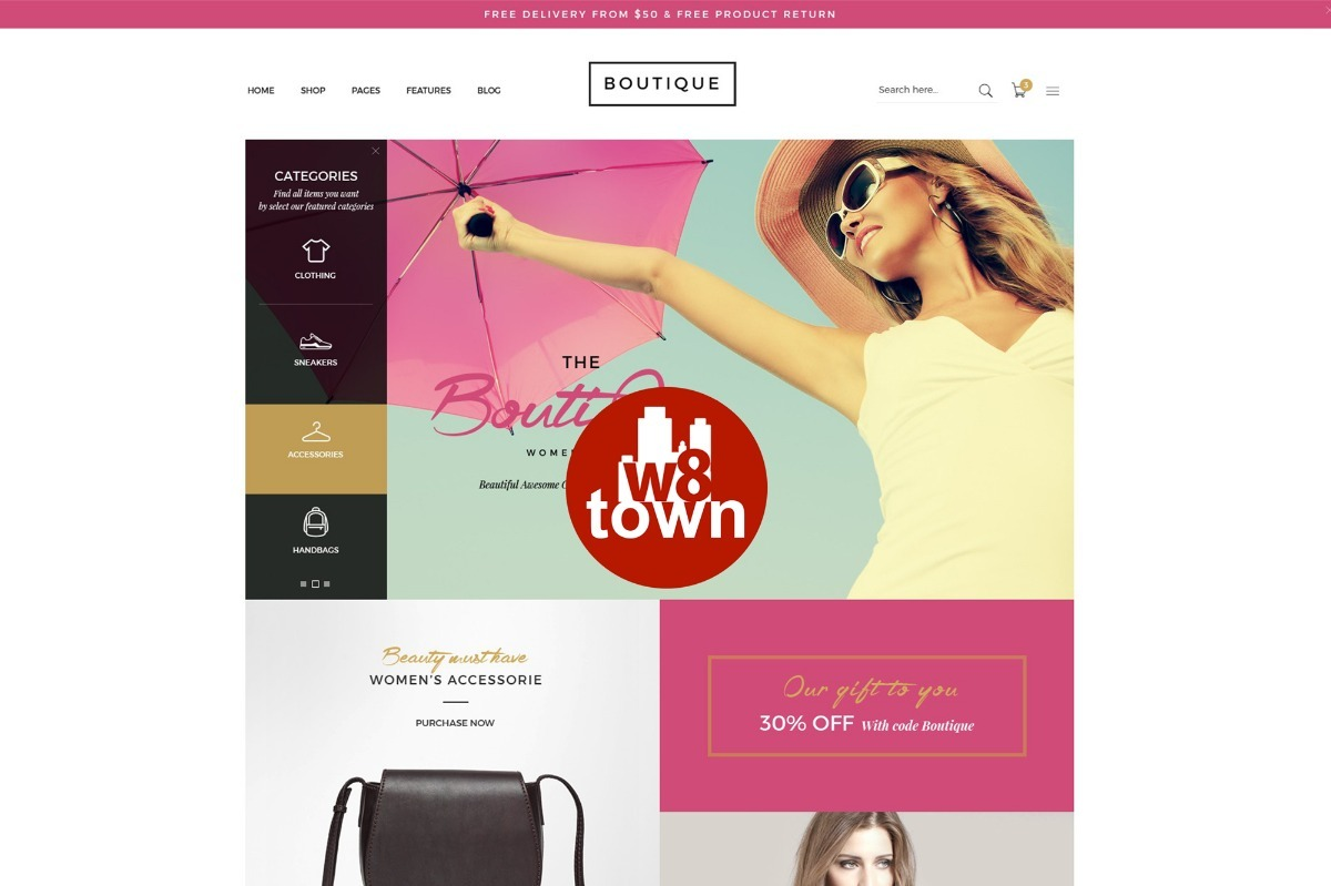 Tema Template Loja Virtual Wordpress Woocommerce Boutique - R  199 ... 8dd63d6b03
