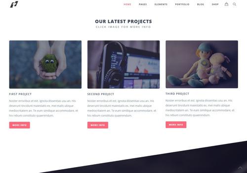 tema tilt site wordpress para agências e designers simples