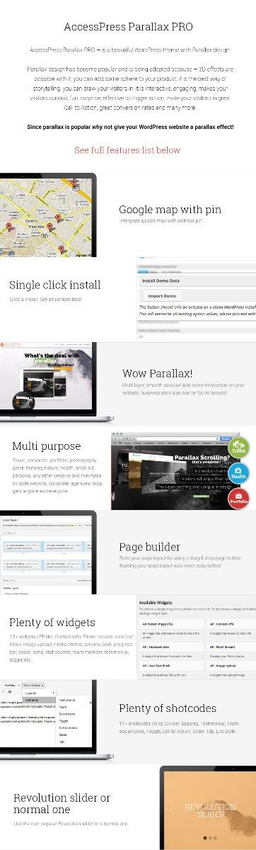 Tema Wordpress Accesspress Parallax Pro - Bs. 160.000,00 en Mercado ...
