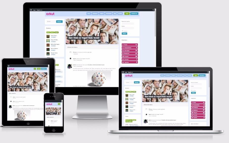 Tema Wordpress Clone Do Orkut Para Site De Rede Social 2018 - R$ 49 ...