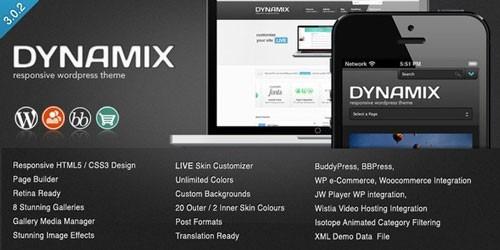 Tema Wordpress- Dynamix - Bs. 7.999,00 en Mercado Libre