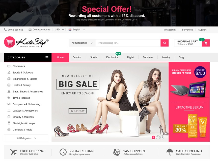tema wordpress - kuteshop   woocommerce para loja virtual. Carregando zoom. 9029d2b49b
