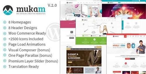 Tema Wordpress Mukan Multiproposito - $ 15.000 en Mercado Libre