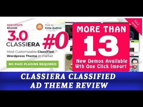 Tema Wordpress Site Anúncios Classificados Classiera V3.0.1 - R$ 19 ...