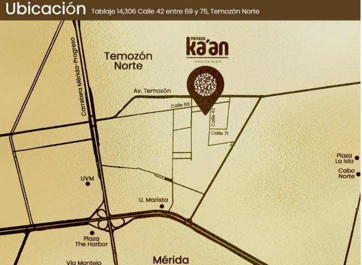 temozon norte terreno privada kaan