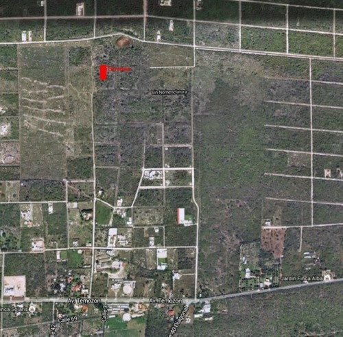 temozon terreno 17.50 x 47 m2
