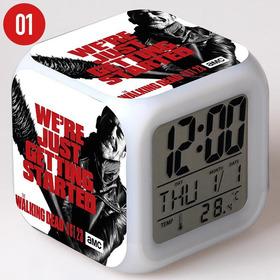 Temperatura Led Brilhante Digital Relógio Despertador Cubo B