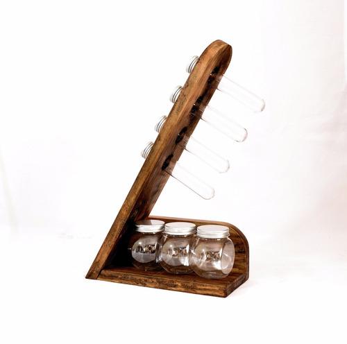 Porta tempero condimentos madeira mesa ou parede r 45 for O que e porta condimentos