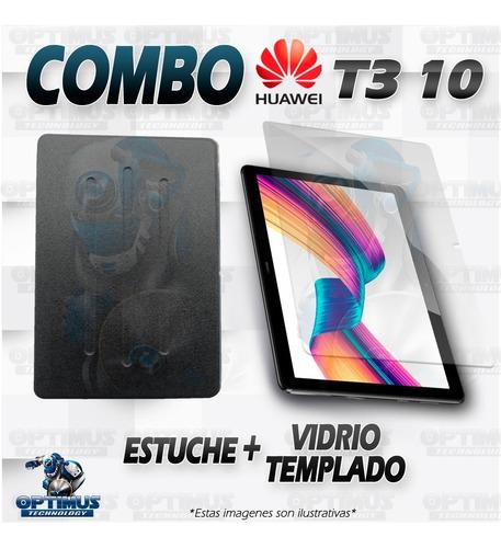 templado y forro tablet huawei t3-10 9.6 pulgadas