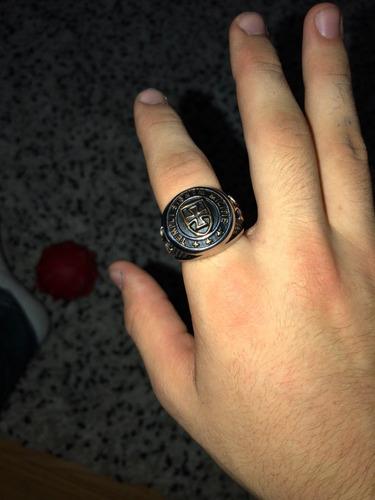 templário aço anel masculino