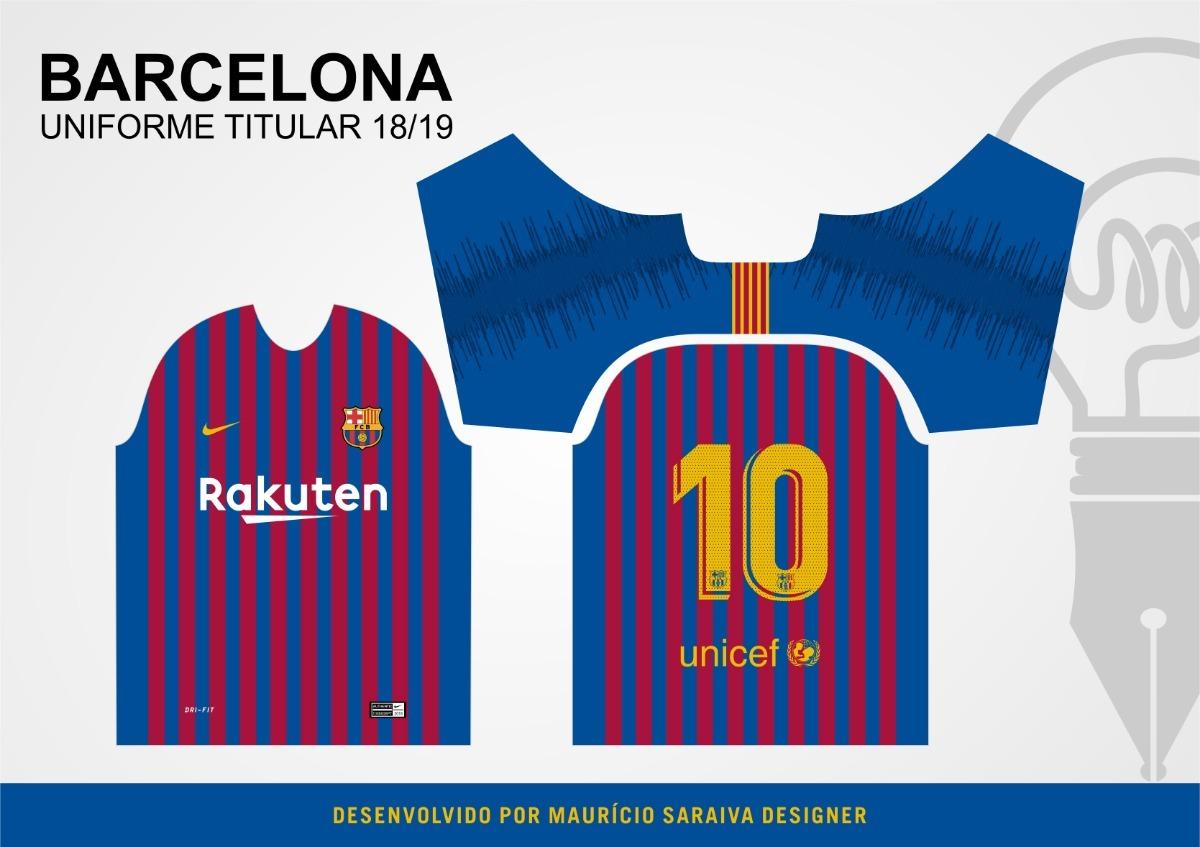1efc2985aa template da camisa do barcelona 2018 2019 + fonte oficial. Carregando zoom.