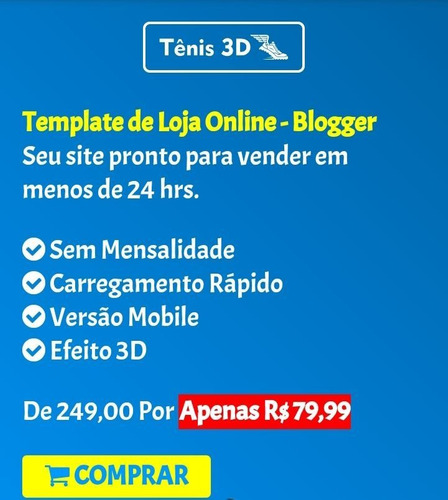 template de loja online - blogger
