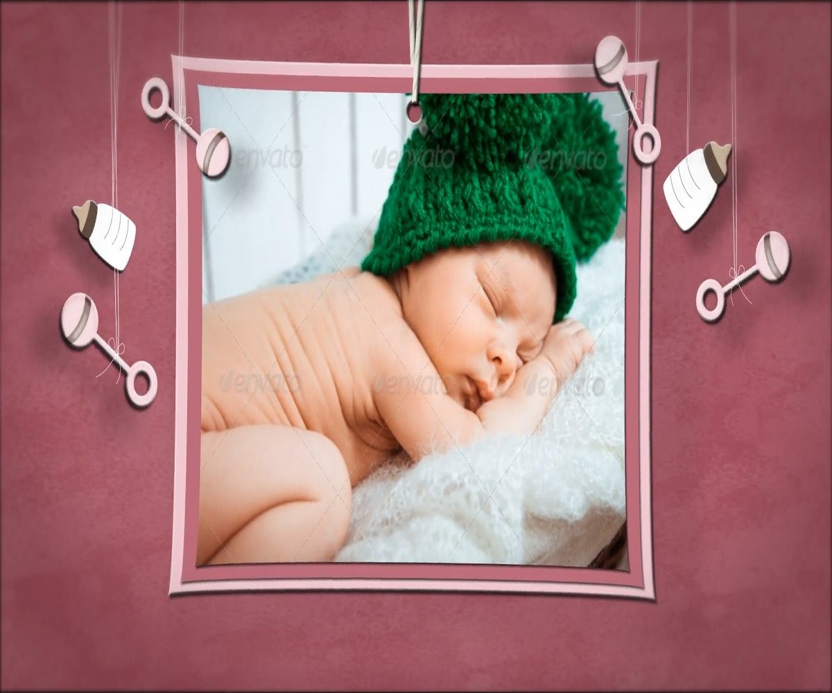Template Editável After Effects Infantil Baby Shadowbox Kids