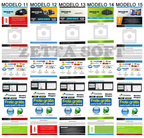 template html anuncio profissional mercado livre envio já