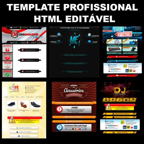 template mercado livre anuncio editavel em html profissional