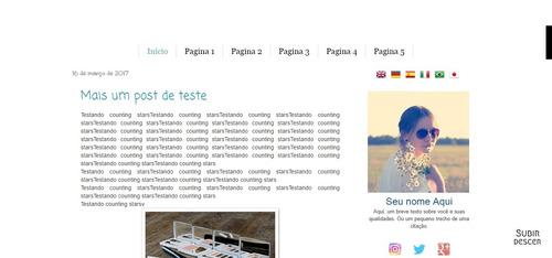 template para blogger - tema para blogger delicado unisex
