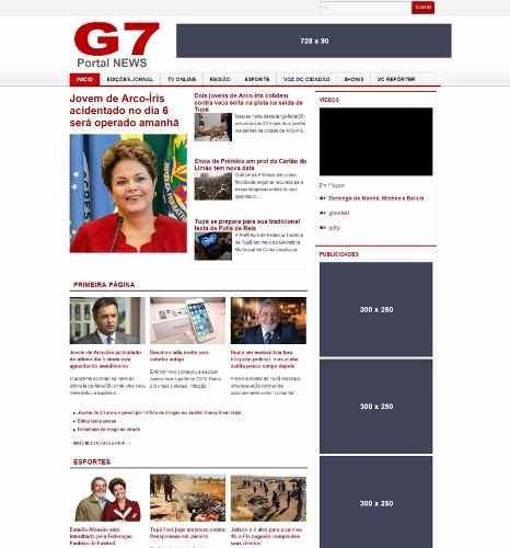 Tema Wordpress Portal De Notícias G1 Clone - Informática no Mercado ...
