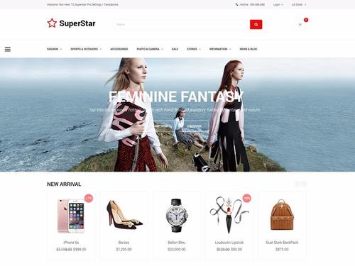 template responsivo superstar - loja virtual opencart