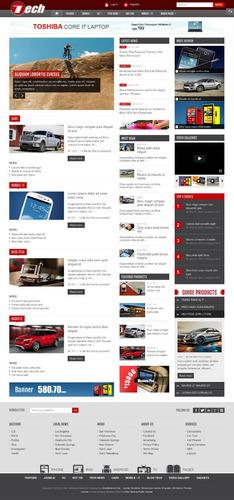 template - site portal de notícias - joomla - vários modelos