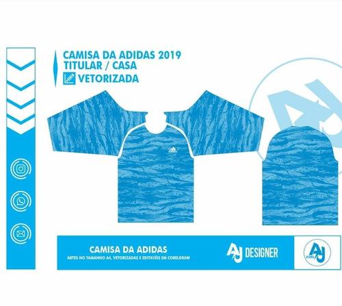 templates adidas 2019 - camisas vetorizadas