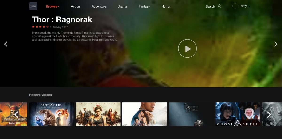 Templete Netflix Wordpress Filmes