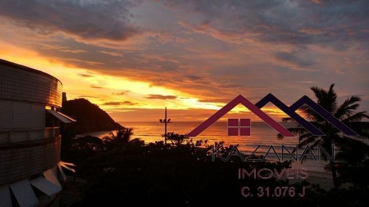 temporada /duplex- vista mar-dois dormitórios-praia do tombo - 2860