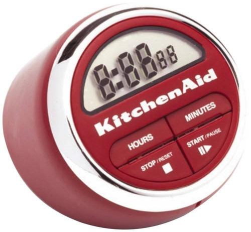 temporizador cocina kitchenaid digital, rojo + envio gratis