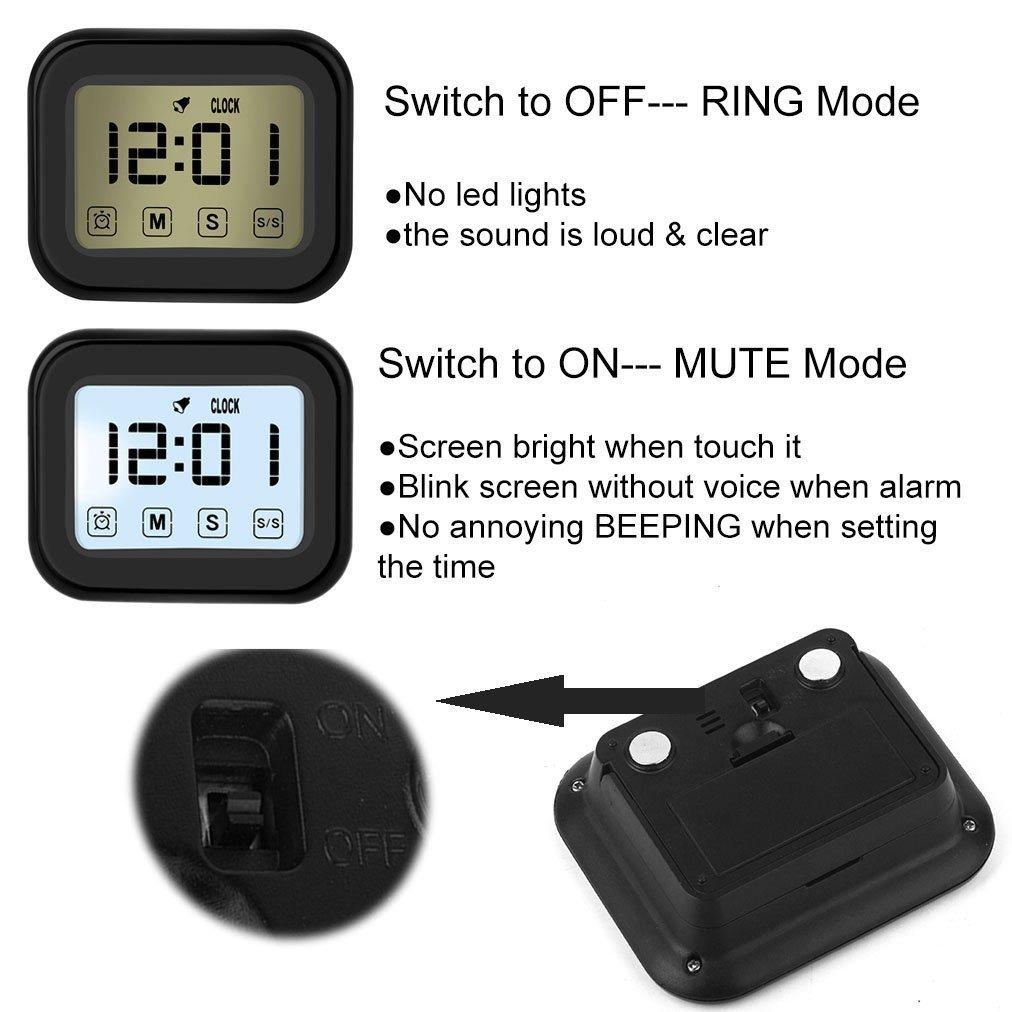 46ea04d8f1d4 temporizador de cocina reloj despertador digital pantalla... 4 Fotos