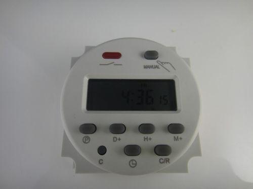 Temporizador digital programable12v 16a u s 25 00 en for Temporizador digital enchufe