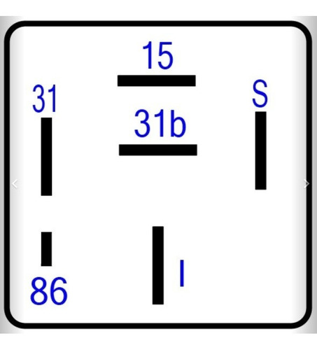temporizador limpiaparabrisa 24v. 6 terminales mb 6965457024
