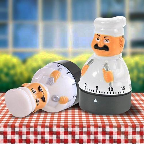 temporizador mecánico de cocina programable diseño chef 411