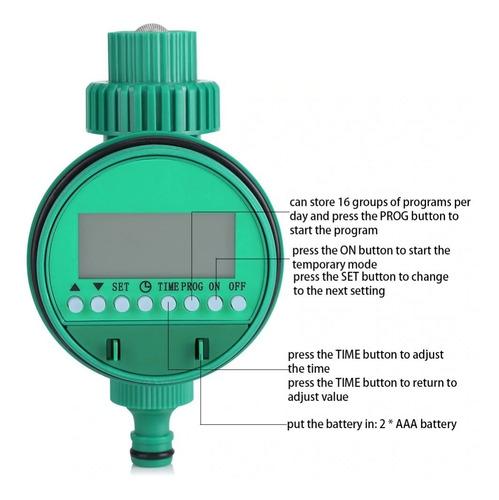 temporizador timer de riego automatico original programable