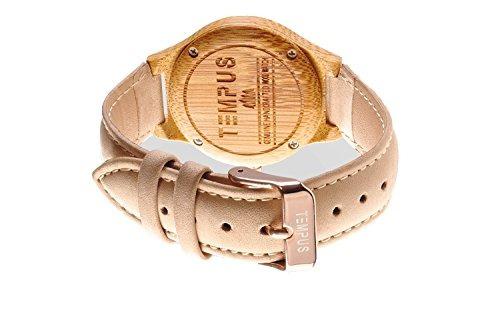 tempus - callista - reloj de madera mujer bambú carcasa mad