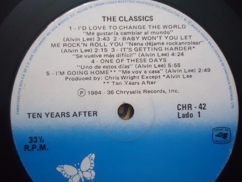 ten years after / the classic performances vinyl lp acetato