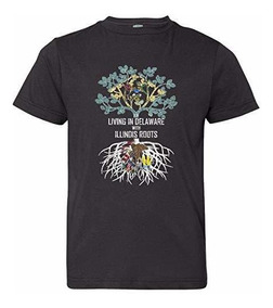 Tenacitee Mens Living in Maryland Colorado Roots T-Shirt