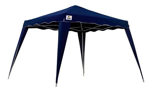 tenda gazebo 3x3 m dobrável sanfonada cobertura 2,4 m azul