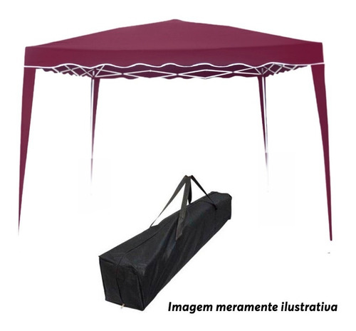 tenda gazebo 3x3m articulada praia camping sol com bolsa