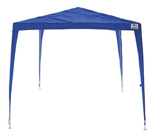 tenda gazebo 3x3m desmontável e encaixável azul belfix