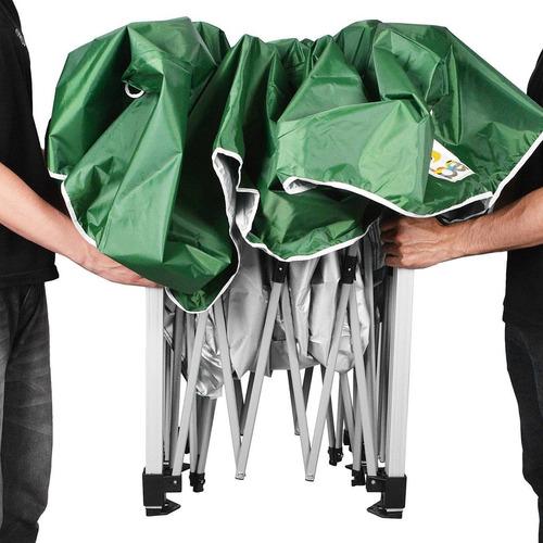 tenda gazebo 3x3m dobrável alumínio e poliester verde belfix