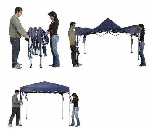 tenda gazebo articulada dobrável alumínio 3 x 3 praia 3x3