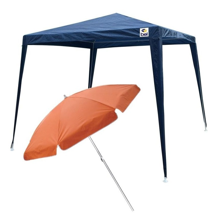 bc625fa11bc5 tenda gazebo azul 3x3m desmontável + guarda sol 1,6m belfix. Carregando  zoom.