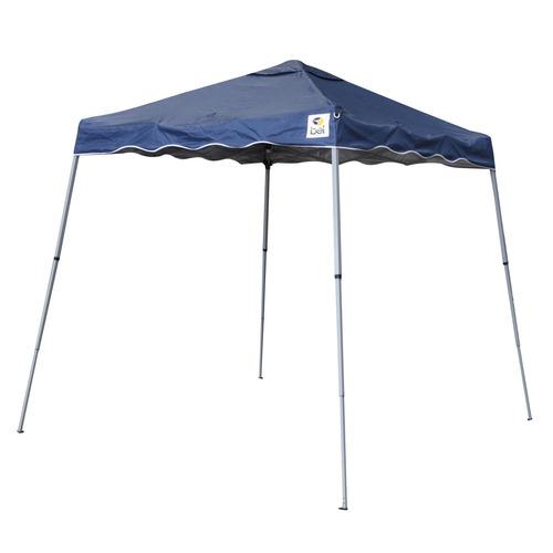 tenda gazebo azul em poliéster 2,4x2,4m dobrável 341500