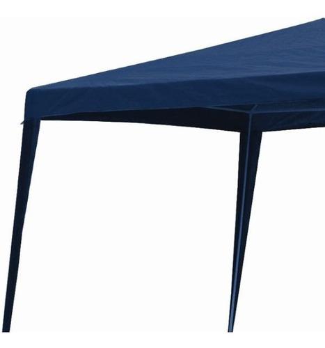 tenda gazebo azul polietileno 3x3 metros desmontável belfix