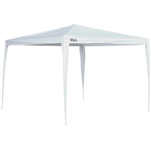 tenda gazebo branca polietileno 3x3m desmontável 103853 kala