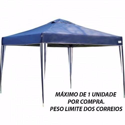 Tenda Gazebo Dobrável 3x3 Alumínio Barraca Sanfonada Praia - R  478 ... 6e823c7823