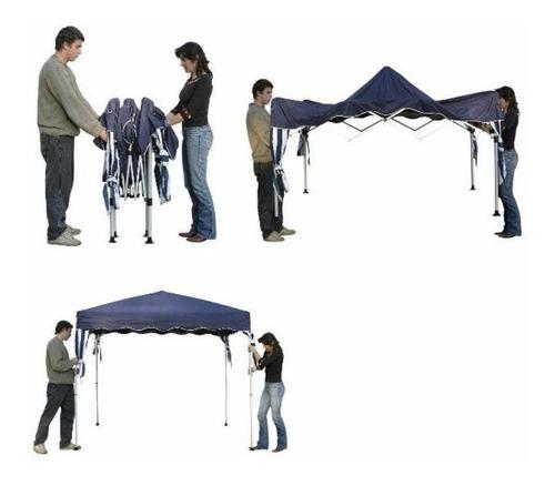 tenda gazebo dobrável sanfonada 3x3 m branca alumínio belfix
