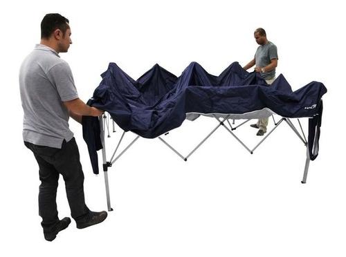 tenda gazebo praia sanfonado 3 x 3 m trixx nautika azul
