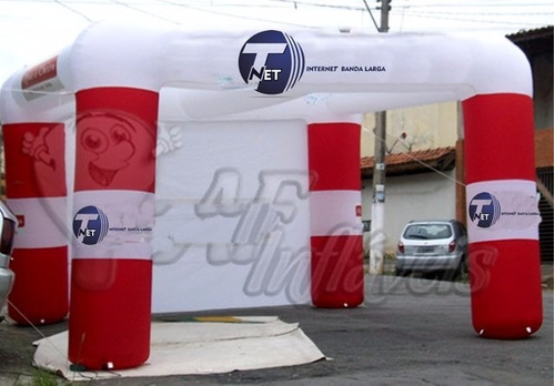 tenda inflavel, balão, tenda, portal, cabine, túnel